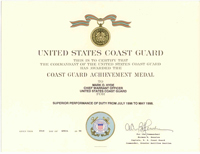 United States Coast Guard Achievement Medal - Click to Enlarge