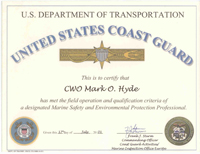 USDOT United States Coast Guard Marine Safety and Environmental Protection Professional - Click to Enlarge